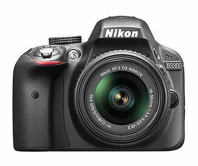 Nikon D3300 24.2MP Digital SLR Camera - Black (Kit w/ AF-S DX VR II 18-55mm Lens