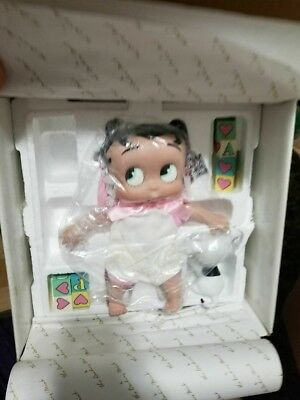 """Betty Boop Baby Boop 9"""" Tall Porcelain Doll Danbury Mint in Box B is for Boop"""
