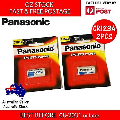 2x Sony Xtra CR123A CR17345 3V Lithium Battery CR123 EL123A  DL123A Arlo Camera