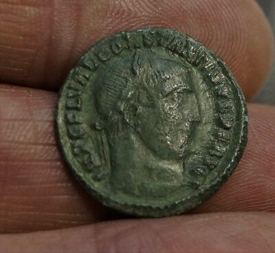 CONSTANTINE I - JUPITER, EAGLE, 313 A.D. 22.5mm, 3g. Ancient Roman Bronze Follis