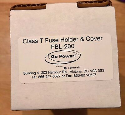 Go Power 200 Amp Fuse Class T with Fuse Block FBL-200