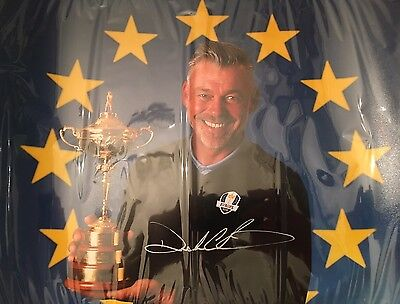 Darren Clarke Hand Signed 2016 Ryder Cup Golf Photo 16x12 With Full Photo Coa