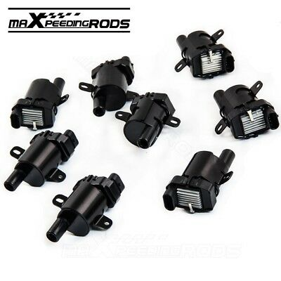 8X Round Ignition Coils on Plug Pack For Chevy GMC Truck V8 4.8L 5.3L 6L UF262