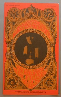 JEFFERSON AIRPLANE  5/12-14/1967 original Fillmore Concert 5x8 Postcard (BG #63)