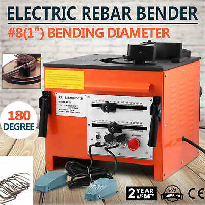 "Electric 1"" inch Rebar bending Bender Foot Switch #8 Foot pedal included"