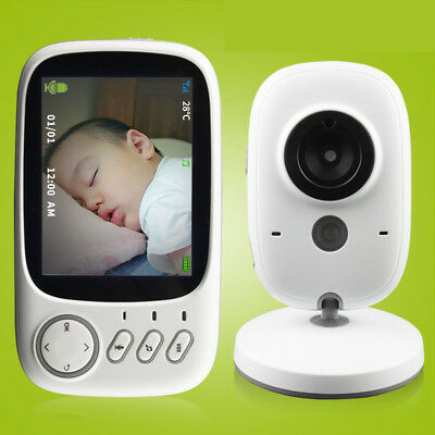 "Wireless Video Baby Monitor 3.2"" Color Safety Camera Talk Night Vision Music"