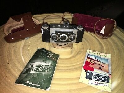 Vintage 1950s Realist Stereo 3D Format 35mm Camera David White FREE SHIPPING
