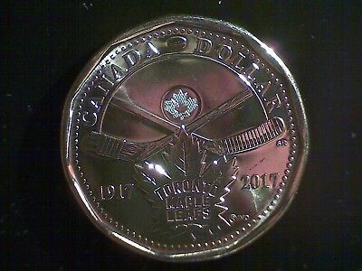 Canada 2017 Loonie Toronto Maple Leafs 100th Anniversary Uncirculated