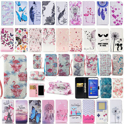 Flip PU Leather Wallet Card Slots Kickstand Case Cover For Huawei P10 P9 P8 Lite
