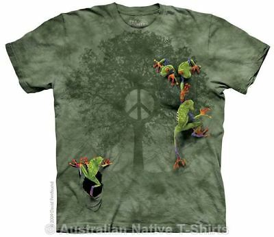Peace Tree Frog T-Shirt in Adult Sizes - Hippie & Nature Designs by The Mountain