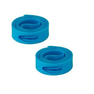 2x Schwalbe High Pressure Bicycle Rim Tape for Clincher Wheels (Blue, Pair)