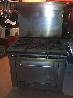 South Bend 6 Burner Range with Oven - AS IS