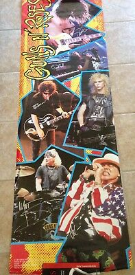Guns And Roses Autographed Oversized Poster Signed By 6 Axl Rose Slash Duff
