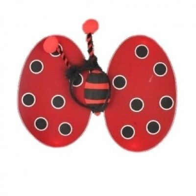 Red Ladybird Fair Wings and Deeley Boppers Perfect For Parties ,Birthdays ,Hen