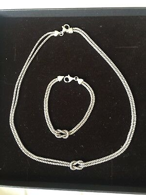 Oxidised Silver Necklace And Bracelet