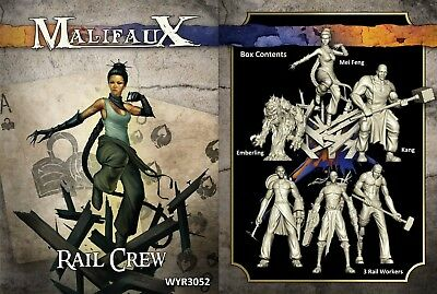 Malifaux- Rail Crew: The Arcanists/Ten Thunders. Wyrd Miniatures