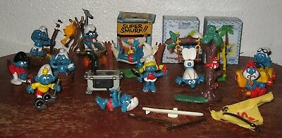 Smurfs - Lot Of 114 Smurfs And Super Smurfs - All In Good Condition!