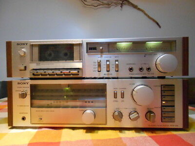 stereo amplifier receiver and tape deack Sony