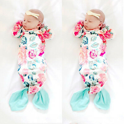 Au Stock Mermaid Baby Girl Newborn Take Home Outfit Sleeping Bag Baby Gown Gift