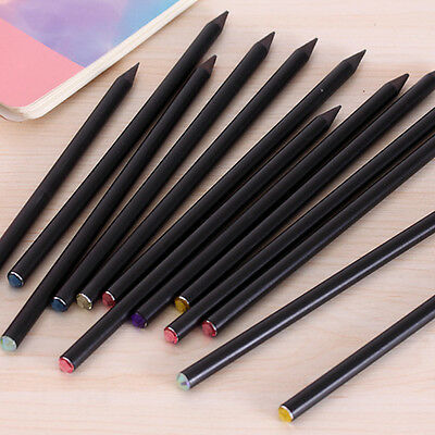 2X Utility Blackwood HB Sketchbook Pencils Student School Supplies With Crystal