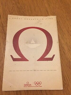 Omega Great Moments In Time A5 Olympic Card Set