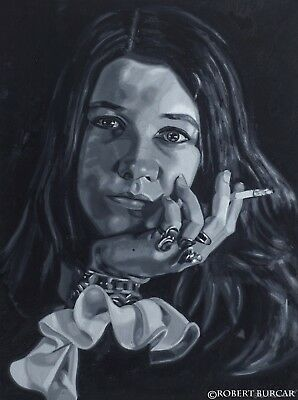 Janis Joplin Painting - Oil on Canvas - Hand Painted, One of a Kind!