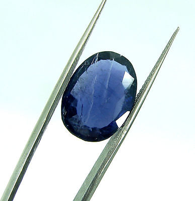 5.50 Ct Certified Natural Blue Iolite / Neeli Oval Loose Gemstone - 108679