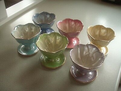 Beautiful Maling Vintage Set of Six Ice Cream Dishes