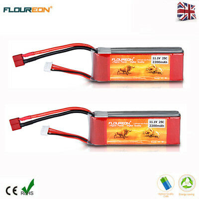 2x 3S 11.1V 4500mAh 30C LiPo Battery Deans for RC Car Helicopter Airplane Drone