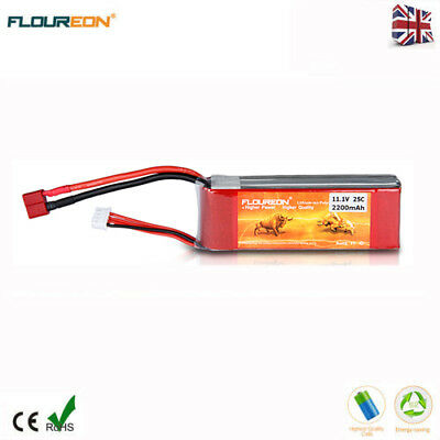 3S 11.1V 4500mAh 30C LiPo Battery Deans for RC Car Helicopter Airplane Drone UK