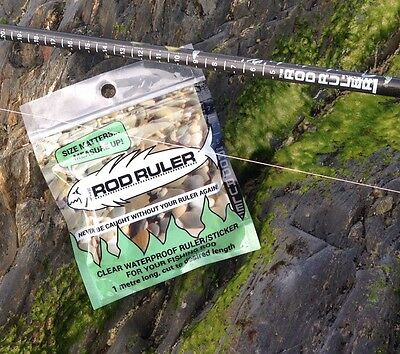 Fishing Rod Sticker , The Rod Ruler UV And Water Resistant. I Metre Long.