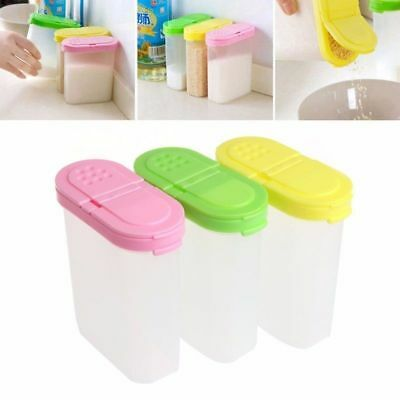 Plastic  Spice Double Jars Bottle Rack Shaker For Seasoning Condiment Sugar Salt