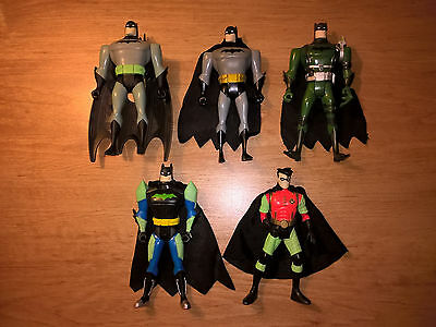 Batman Action Figures + Accessories Lot of 5 - Missions Masters Night Fury Robin