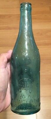 SCARCE PERTH HORSESHOE PGW CROWN SEAL BEER BOTTLE 1/2 SIZE 1910's