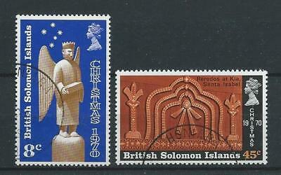 Solomon Islands SG199-200 1970 Christmas Fine Used