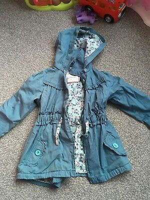 M&S Autograph Light Blue Girls Coat Age 3-4