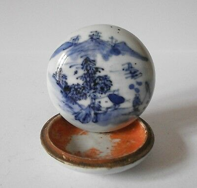 Seal paste box - porcelain - Chinese 18th cent.