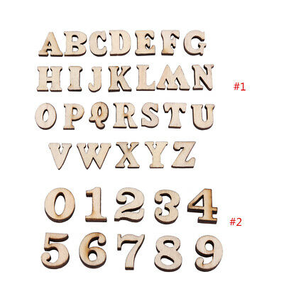 200Pcs Unfinished Wooden Letters Alphabet for Kids Early Education Crafts DIY im