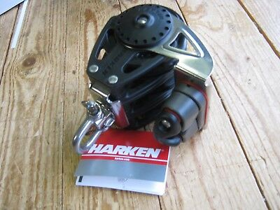 Harken Carbo 2685 75mm triple ratchamatic block, with swivel, cleat and ratchet