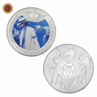 WR Michael Jackson Fine SILVER Collectors Coin Thriller Moonwalk Souvenirs Gifts