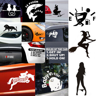 Car Rules Decal Slammed Car Truck Vinyl Sticker JDM Racing Window Decal Funny