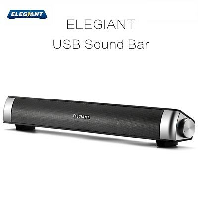 ELEGIANT USB Multimedia Sound Bar Speaker System For Computer PC Desktop Laptop