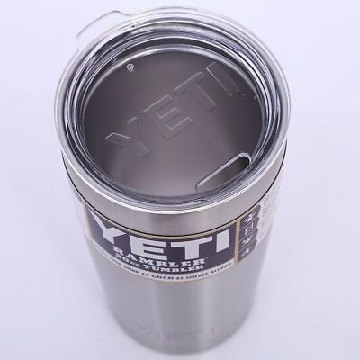 Outdoor Sports 20oz Tumbler Cup with Lid Stainless Steel Silver YETI Rambler