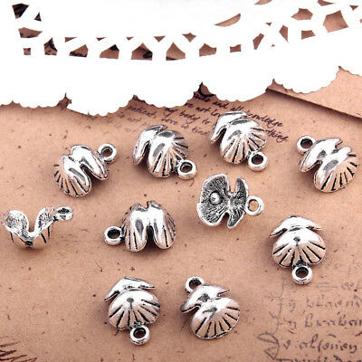 10pc/Packet Antique Silver Tibetan Seashell Charm Pendant Beads 14*11mm