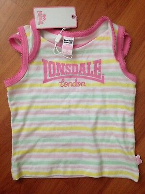 Lonsdale Size 3-6M Baby Girl T-Shirt BNWT RRP$19.95