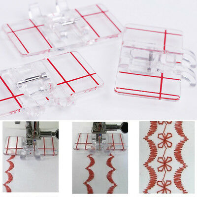 Hot Clear Plastic Parallel Stitch Foot Presser For Home Domestic Sewing Machine