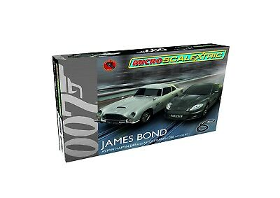 Scalextric James Bond Micro Slot Car Race Set (1:64 Scale). Free Shipping