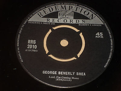 """George Beverly Shea:  Lord i'm coming home rare Redemption Records 7""""   Gospel"""