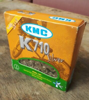"KMC K710 Silver 1/8"" BMX / Single Speed Chain"