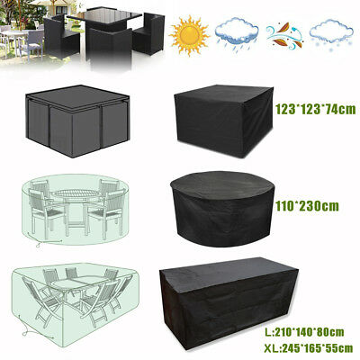 Heavy Duty Waterproof Rattan Cube Garden Furniture Rainproof Protection Cover UK